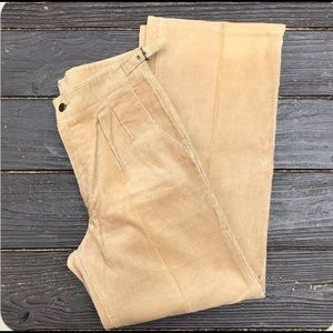 Vintage tan corduroy high waist wide leg trousers